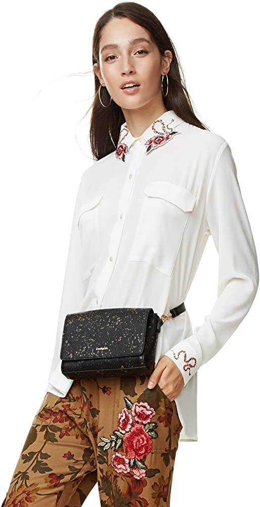 Desigual - Camisa MELANCOLIA Mujer Color: 1001 Crudo Talla: SICE XL: Amazon.es: Ropa y accesorios