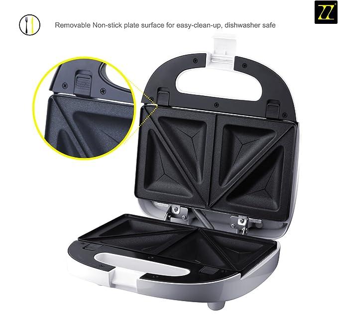 Amazon.com: ZZ s6141 a 4 en 1 de Waffle omelette Desayuno y ...