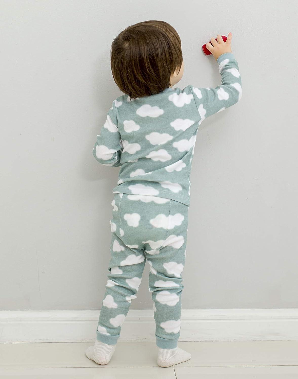Vaenait Baby 12M-7T Kids Unisex Boys /& Girls 100/% Cotton Sleepwear Pajamas 2pcs Set Prisim//Cloud