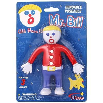 NJ Croce Mr. Bill Bendable Action Figure, Multicolor: Toys & Games