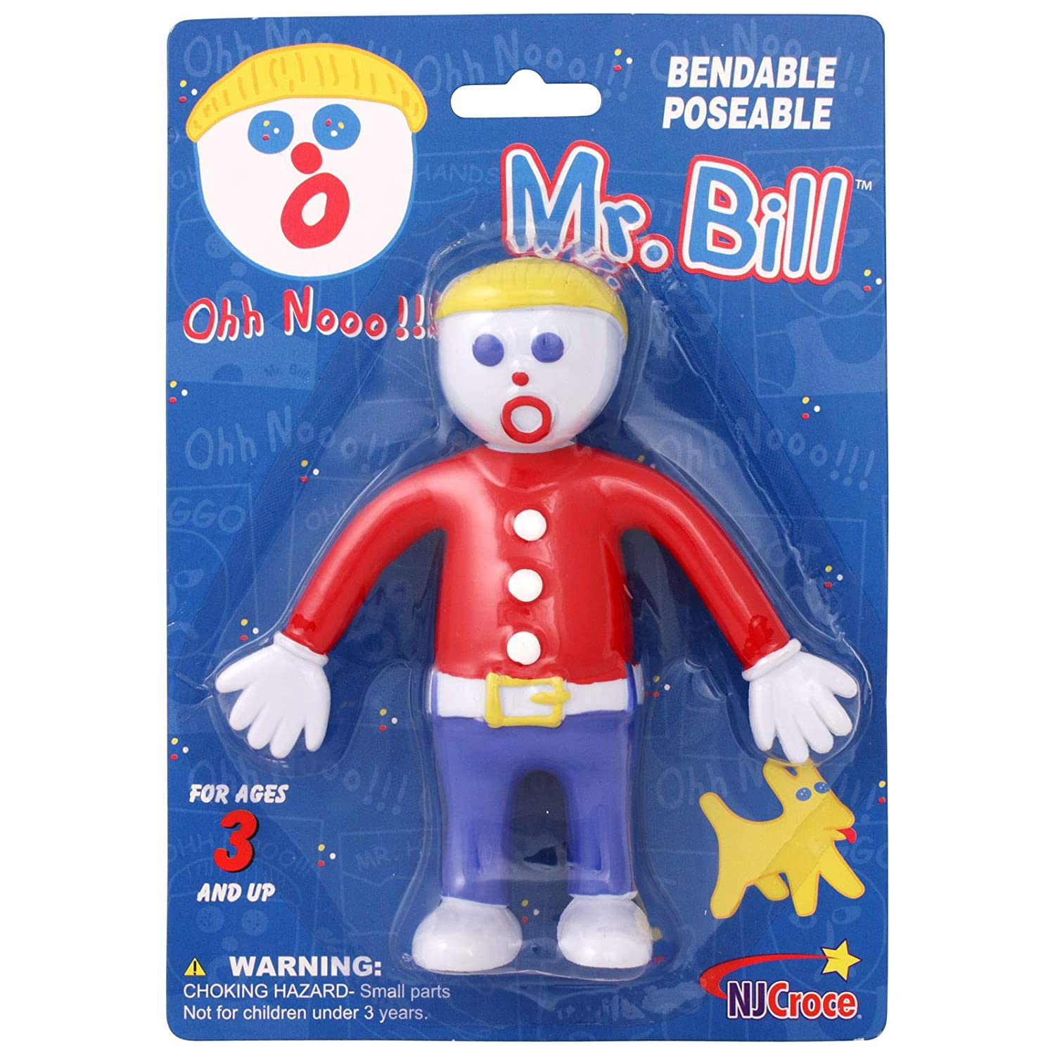 NJ Croce Mr Toys MRB 2600 Accessory Toys /& Games Multicolor NJ Croce Bill Bendable Action Figure