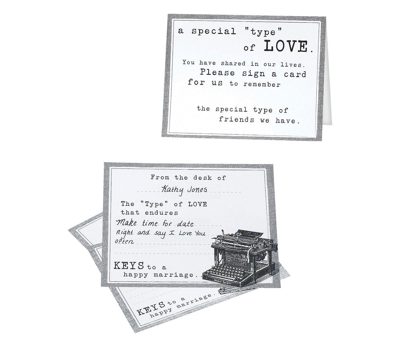 Lillian Rose Vintage Typewriter Cards Guest Book Alternative
