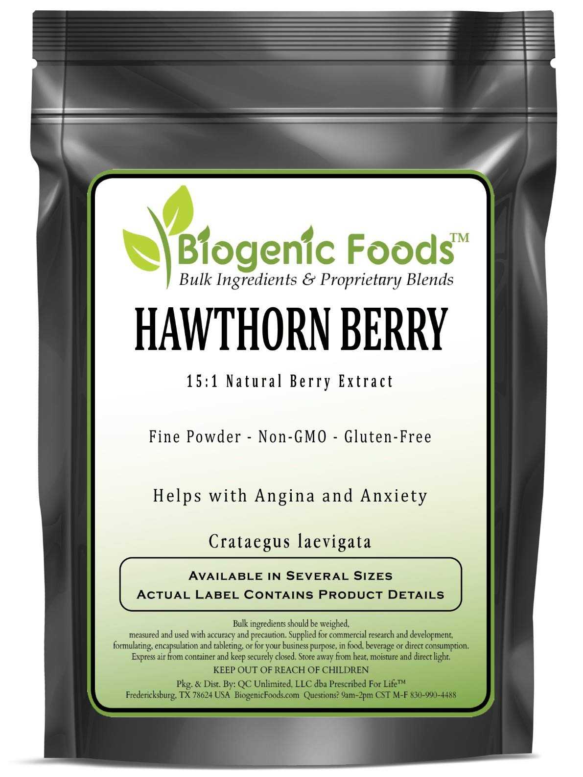Hawthorn Berry - 15:1 Natural Berry Fine Powder Extract (Crataegus laevigata), 2 kg