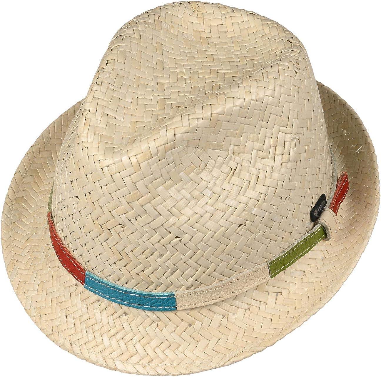 Lipodo Cappello da Bambino Colour Band Bambini Made in Italy Estivo Cappelli Spiaggia Sole con Fascia Pelle Primavera//Estate