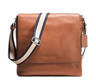 Amazon.com  Coach Messenger Bag Leather Small Saddle  Shoes