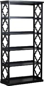 Powell Furniture Turner Bookcase, Black,
