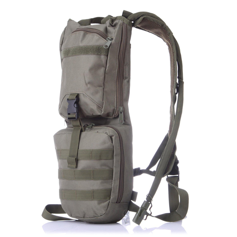 Sunvp Rucksack mit Trinksystem, militärische, MOLLE, mit hoher Kapazität, Camouflage, Herren Damen, für Wandern Camping Radfahren Reise, 3°l