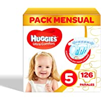 Huggies Ultra Comfort - Pañales para bebé , Pañales Talla 5 (11-25 kg) – 126 pañales
