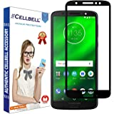CELLBELL Tempered Glass Screen Protector with Installation Kit Full Glue Edge to Edge for Motorola Moto G6 (Black)