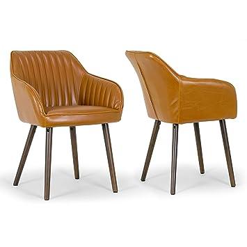 Pleasing Amazon Com Glamour Home Decor Alaura Caramel Brown Faux Beatyapartments Chair Design Images Beatyapartmentscom