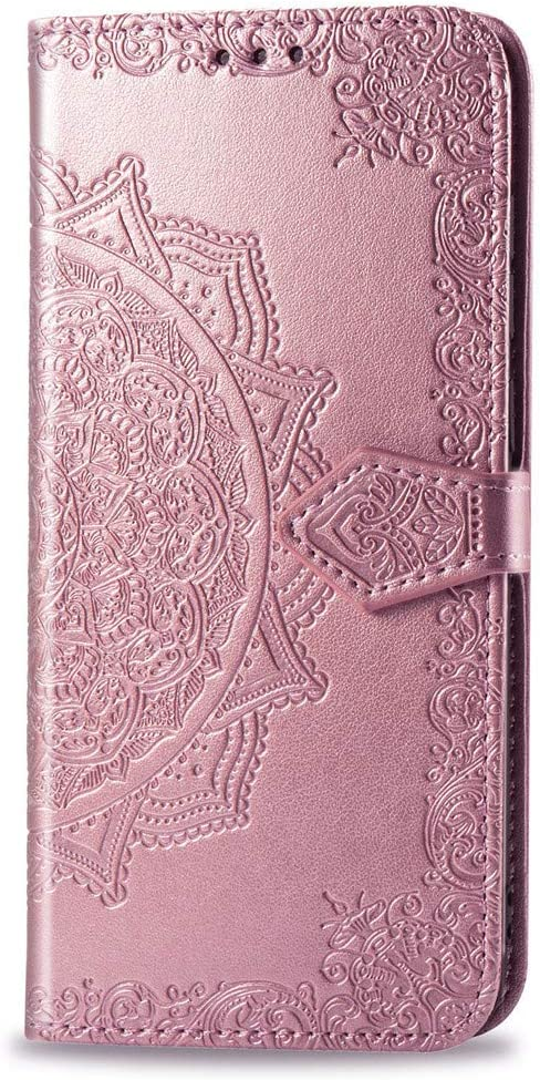 Advanced PU Body case for Samsung Galaxy A70 Samsung Galaxy A70 Wallet case COTDINFORCA Embossed Butterfly Pattern flip Card Set Cash Leather case Deep Purple 2019 SD Flower Butterfly