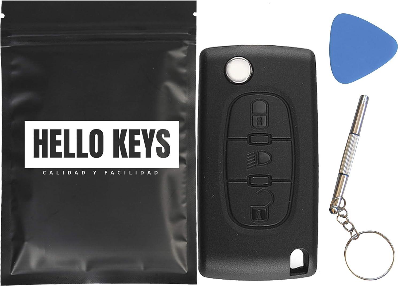 hello keys - Mando Carcasa Llave Citroen C4 Picasso C2 C3 C5 C6 3 Botones