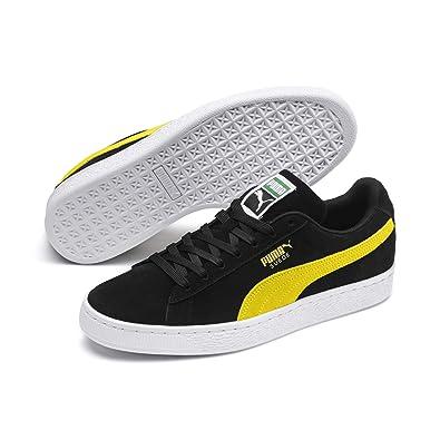 2115545d4c02f1 Puma Suede Classic, Baskets Basses Mixte Adulte, Noir (Puma Black-Blazing  Yellow