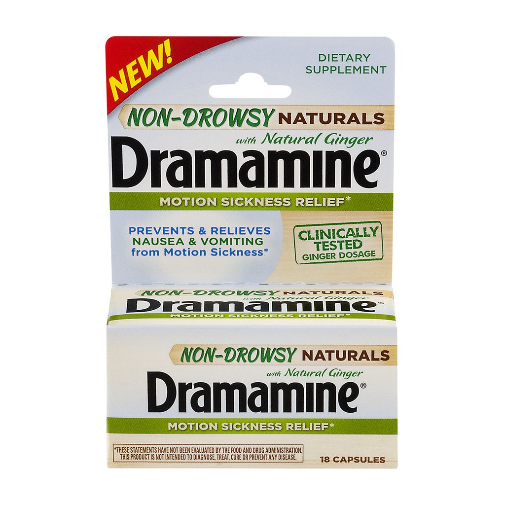 Dramamine Non-Drowsy Naturals with Natural Ginger