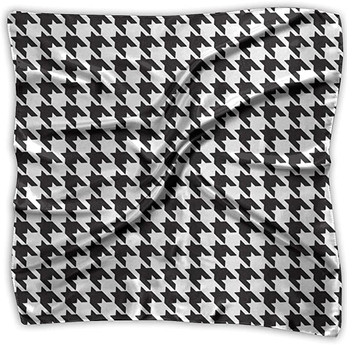 Pata de gallo Pañuelos cuadrados en blanco y negro Bufanda Chal ...