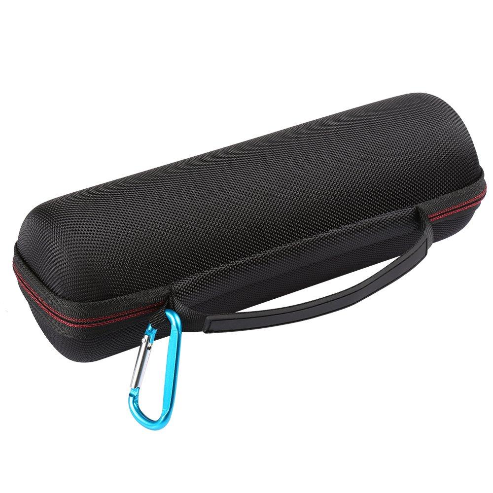 PU en Cuir Carry Zipper Case Portable De Protection Dur Bo/îte de Couverture pour JBL Flip 4 Bluetooth Haut-Parleur LuckyNV Flip 4 Cas
