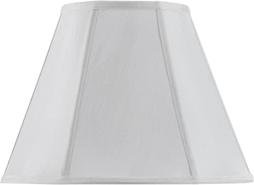 Cal Lighting SH-8106 16-WH Vertical Piped Basic Empire Shade with 16-Inch Bottom, White