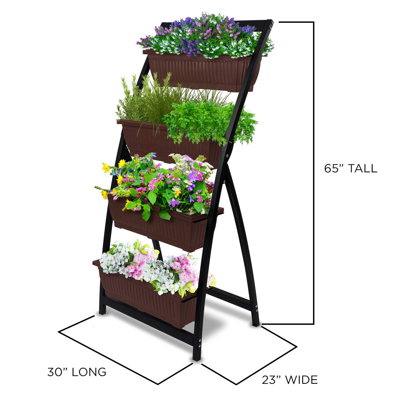 6Ft Raised Garden Bed Vertical Freestanding Elevated