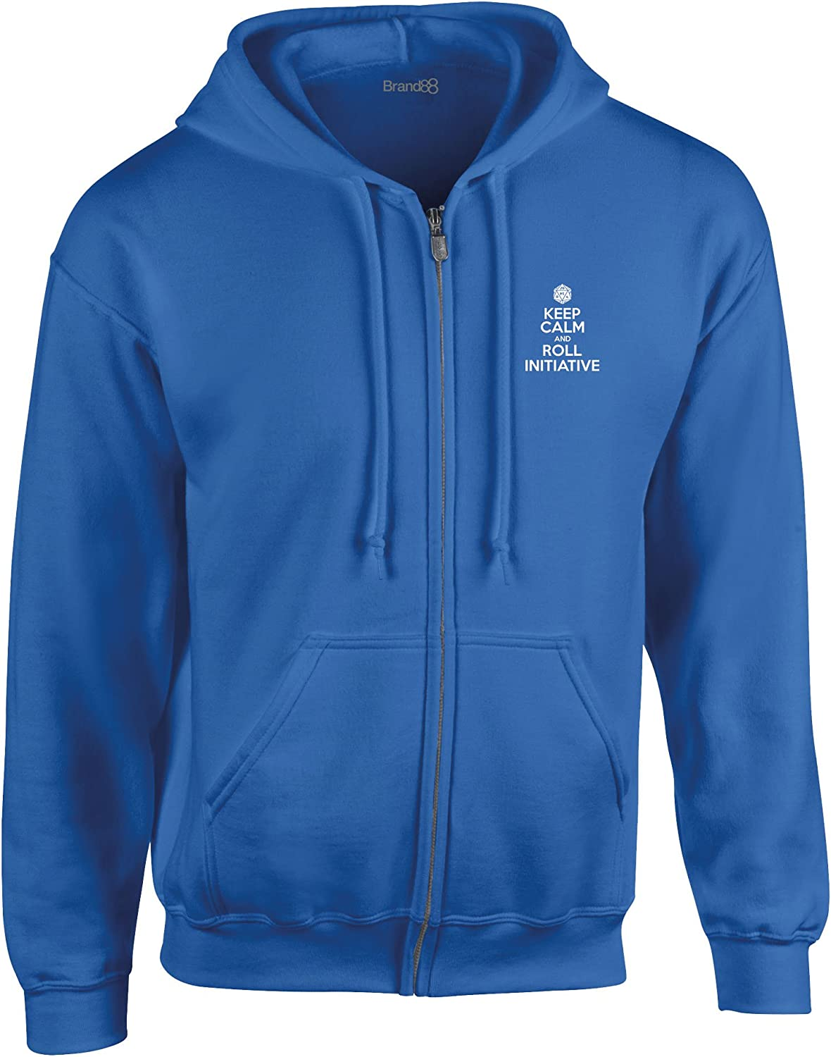 Zipped Hoodie Royal 5XL Keep Calm and Roll Initiative