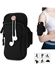 "Bingo Trade Running Armband Phone Holder, phone armband,running bag,arm band for phone running, Armband Bag, for iPhone XS MAX XR XS 8/7 Plus, Samsung,Cellphone Up to 6"" (Black)"