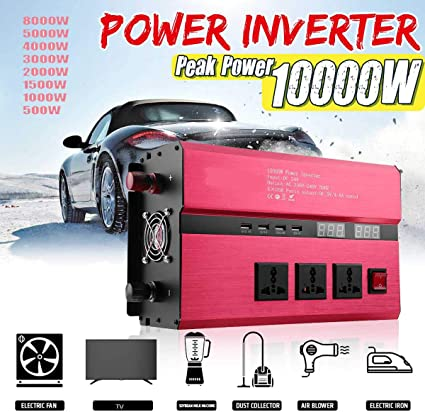 4000W 3000W Peak DC 24V to AC 110V Modifide Wave Car Power Inverter USB Charger