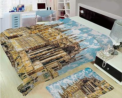 Amazon.com: 3D Printed Throw Blanket Custom Design Floor Mat ...