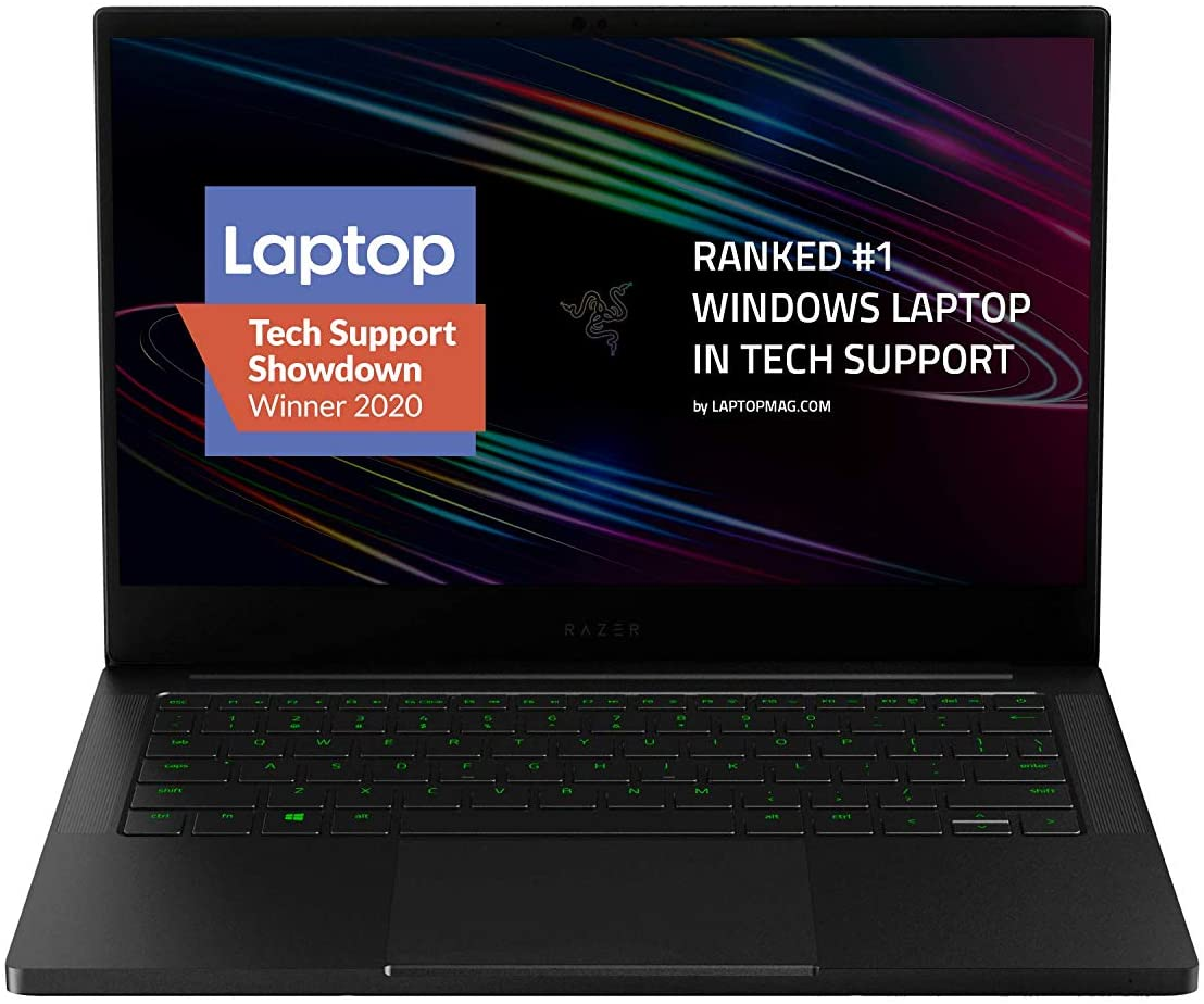"Razer Blade Stealth 13 Ultrabook Gaming Laptop: Intel Core i7-1065G7 4 Core, NVIDIA GeForce GTX 1650 Ti Max-Q, 13.3"" 1080p 60Hz, 16GB RAM, 512GB SSD, CNC Aluminum, Chroma RGB, Thunderbolt 3, Black"