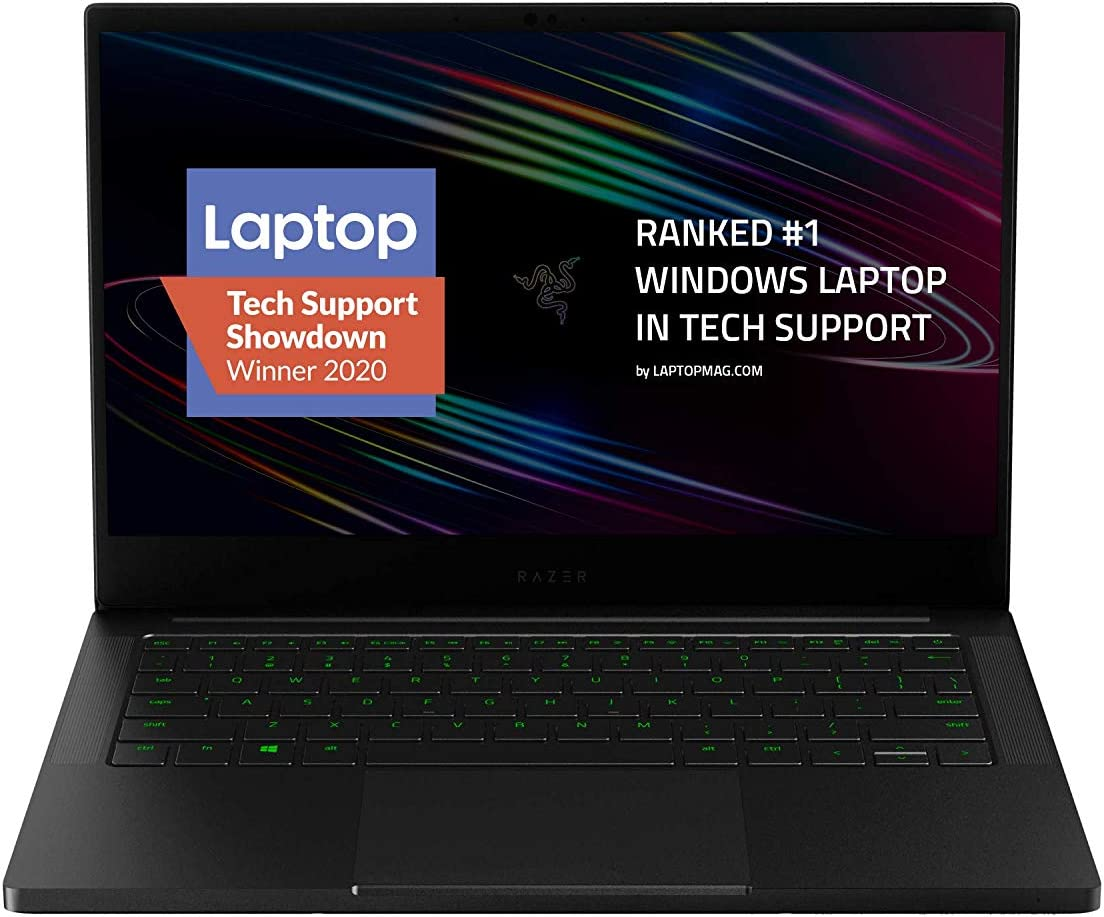"Razer Blade Stealth 13 Ultrabook Gaming Laptop: Intel Core i7-1065G7 4 Core, NVIDIA GeForce GTX 1650 Ti Max-Q, 13.3""1080p 120Hz, 16GB RAM, 512GB SSD, CNC Aluminum, Chroma RGB, Thunderbolt 3, Black"