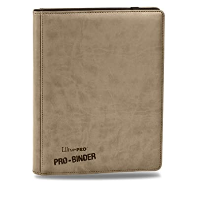 Premium PRO-BINDER 9-Pocket Cards, Tan: Toys & Games