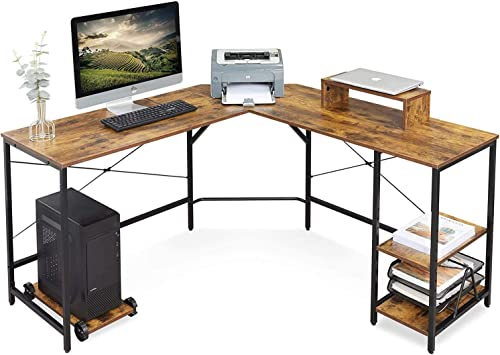 DEVAISE L-Shaped Computer Desk