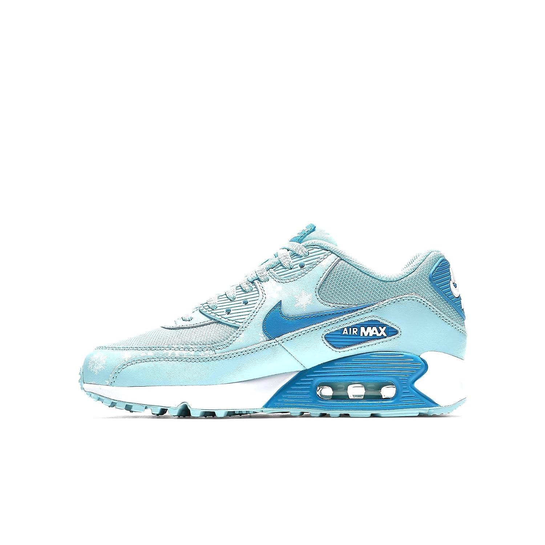 buy online 98235 aaac4 Amazon.com   NIKE Kid s Air Max 90 Prem Mesh GS, Copa Blue Lagoon-White    Athletic
