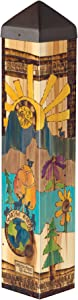 Studio M Voices for The Earth Mountains Art Pole Decorative Garden Post, Made in The USA, 20 Inches Tall