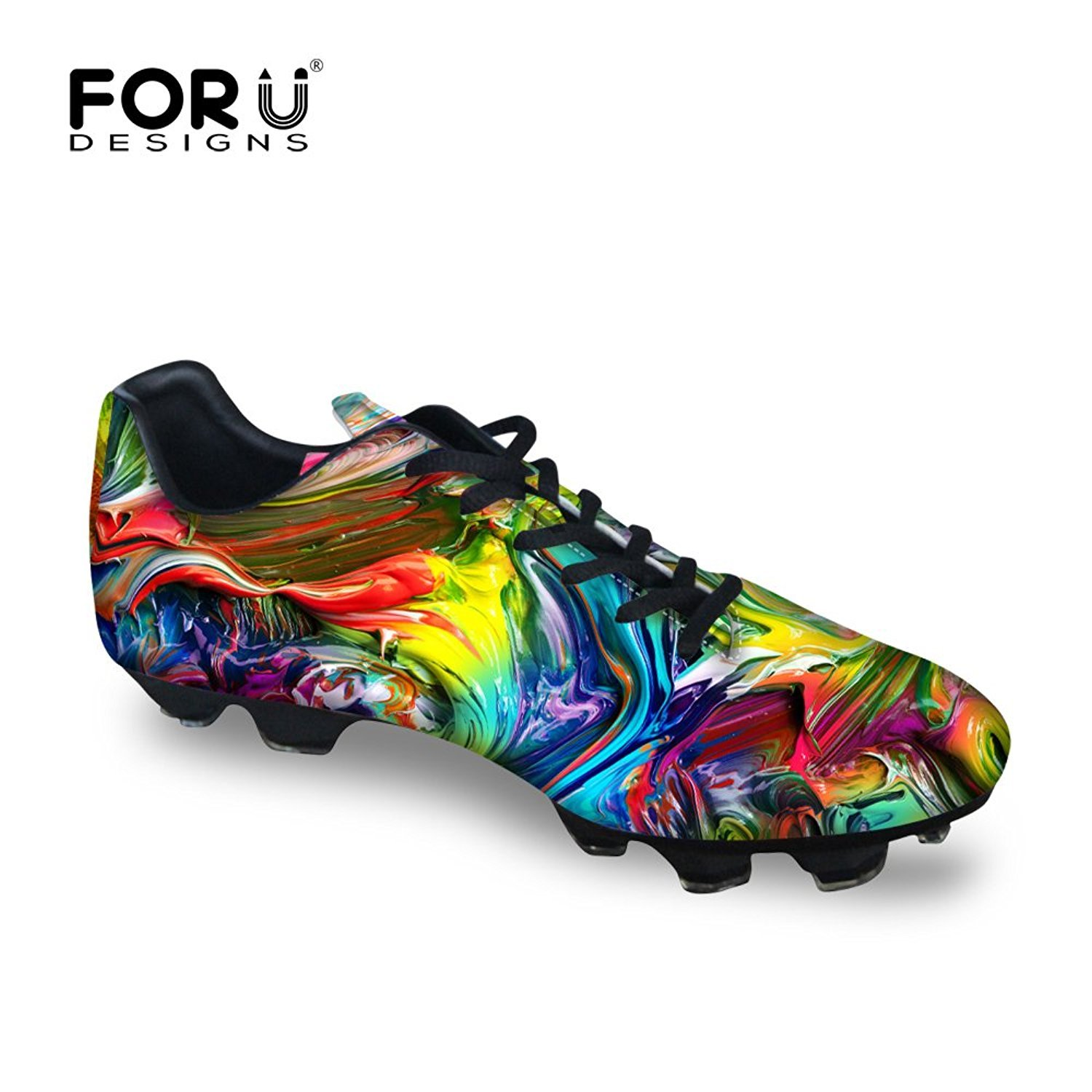 4e40dfe9b Buy FOR U DESIGNS Cool Coating Printed Men s Low Top Sport Shoes Fg Soccer  Cleats Online at Low Prices in India - Amazon.in