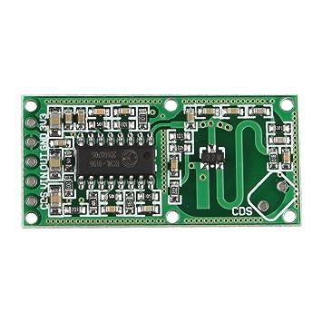 Haljia RCWL-0516 módulo de sensor de movimiento, radar de microondas,