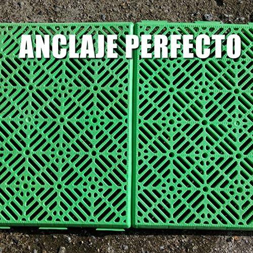 colore 30 x 30 cm verde Antihumedades Confezione da 12 piastrelle per pavimenti autoventilati