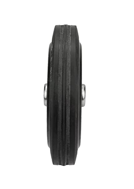 Helmer 710172/Completo de goma rueda 125/x 37/x 15/mm D/örner con cojinetes de rodillo Buje ancho 44/mm
