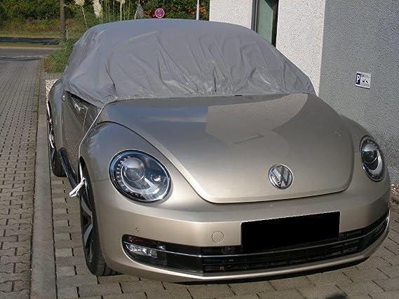 Kley Partner Halbgarage Auto Abdeckung Plane Haube Wasserdicht Uv Resistent Kompatibel Mit Volkswagen Vw Beetle Cabrio Ab 2012 Auto