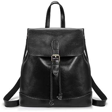 Amazon.com  SAMSHOWME Women Backpack Purse PU Leather Shoulder Bag Casual Travel  Bag for Girls  Clothing 63578cf272ea5