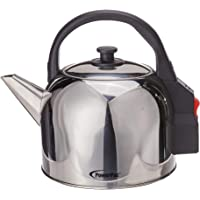 PowerPac PPJ2055 Stainless Steel Electric Kettle, 5L Silver/Black