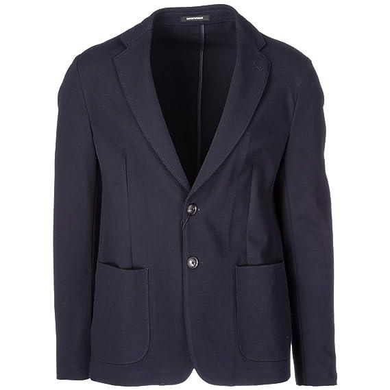 Emporio Armani cazadoras hombres americana chaqueta nuevo blu EU 50 (UK 40) 01G8700B030: Amazon.es: Ropa y accesorios
