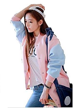Amazon | [セオヴェル]THEOVEL レディース ブルゾン 上着 コート スタジャン ゆめかわいい バイカラー 長袖 | コート・ジャケット  通販