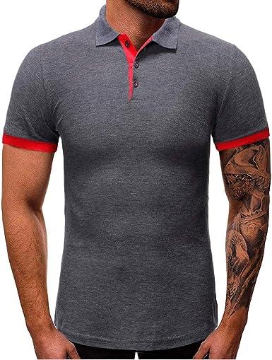 Camisetas De Los Hombres Camisa De Manga Corta Hombre Verano Hombre 2019 Camisas Camisa con Cuello Abotonado Camiseta Delgada Tops Camisetas Blancas para Hombres Camiseta Deportiva Resplend: Amazon.es: Ropa y accesorios