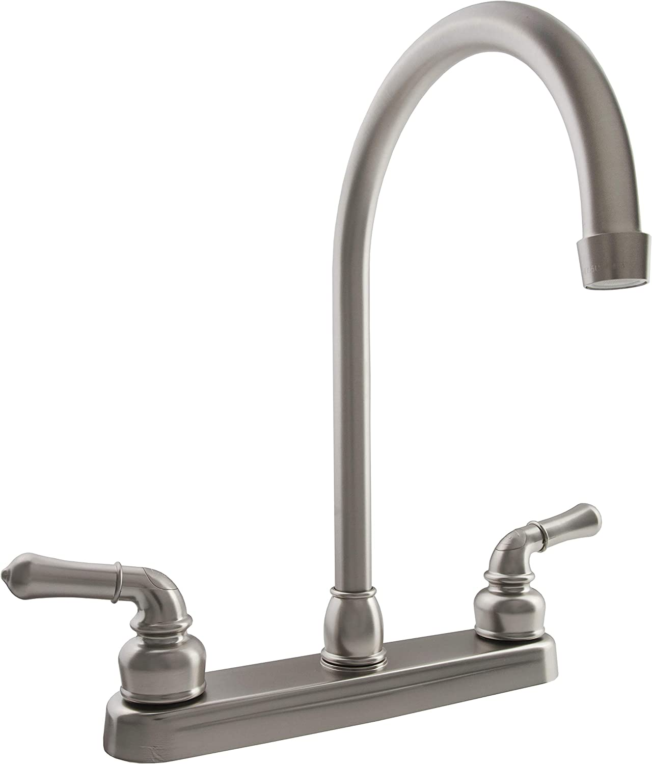 Dura Faucet DF-PK330HC-SN RV J-Spout Kitchen Faucet Brushed Satin Nickel