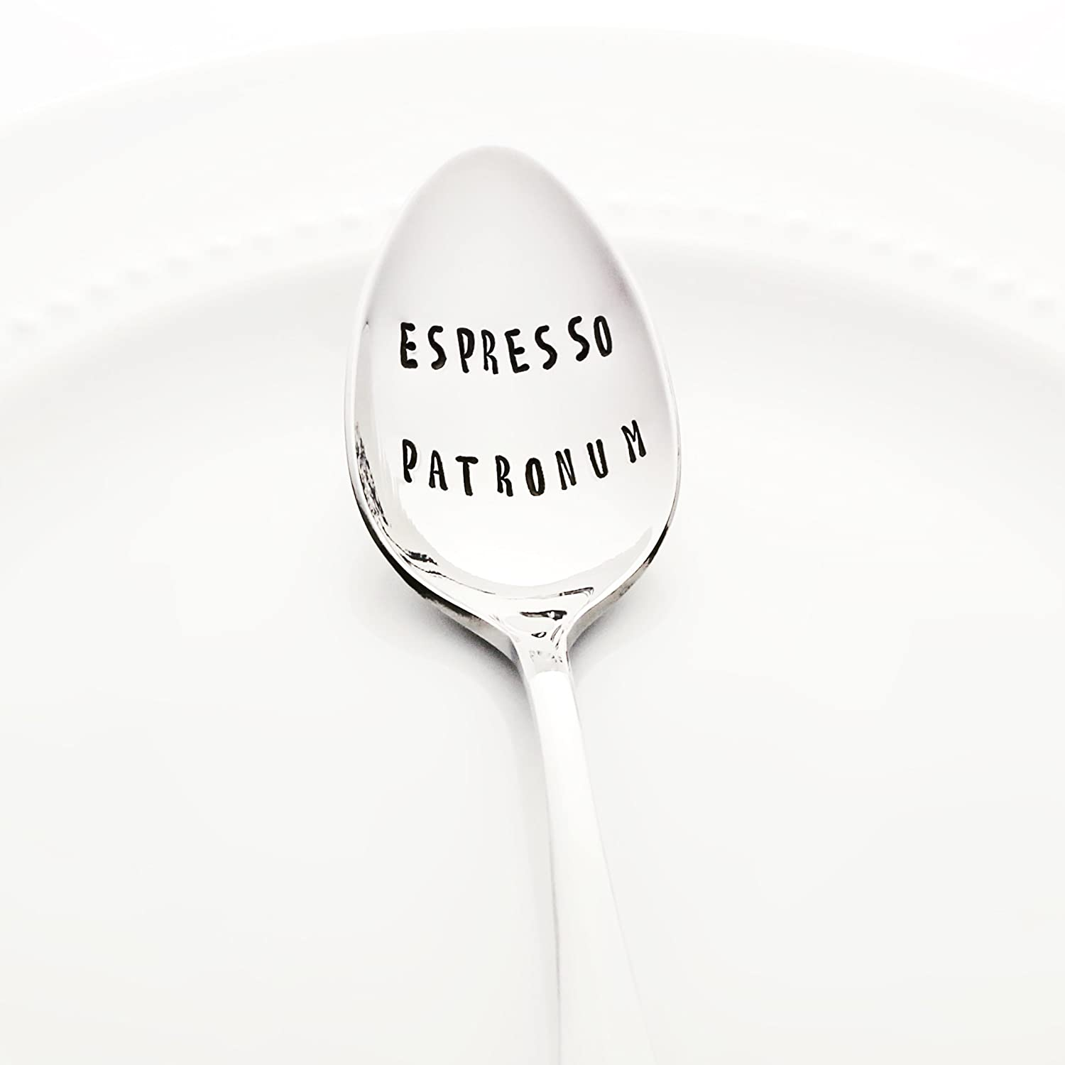 Espresso Patronum - Stainless Steel Stamped Spoon, Stamped Silverware - Gifts for Coffee Lovers - Unique Geek Gifts