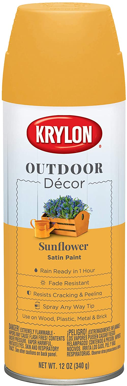 Krylon Outdoor Décor Spray Paint, Sunflower