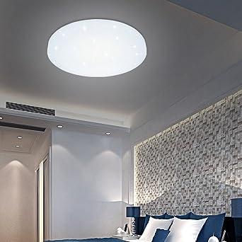 HG® – Lámpara LED de techo, 12 W, blanca, redonda, apta para baño