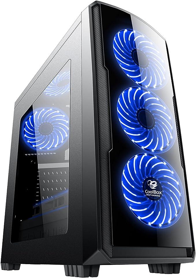 CoolBox COO-DGC9K7-LB-0 Carcasa de Ordenador Torre Negro - Caja de Ordenador (Torre, PC, SPCC, Negro, ATX,Micro ATX, Juego): Coolbox: Amazon.es: Informática