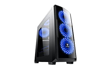 CoolBox COO-DGC9K7-LB-0 Torre Negro Carcasa de Ordenador - Caja de Ordenador (Torre, PC, SPCC, ATX,Micro-ATX, Negro, Juego): Coolbox: Amazon.es: Informática