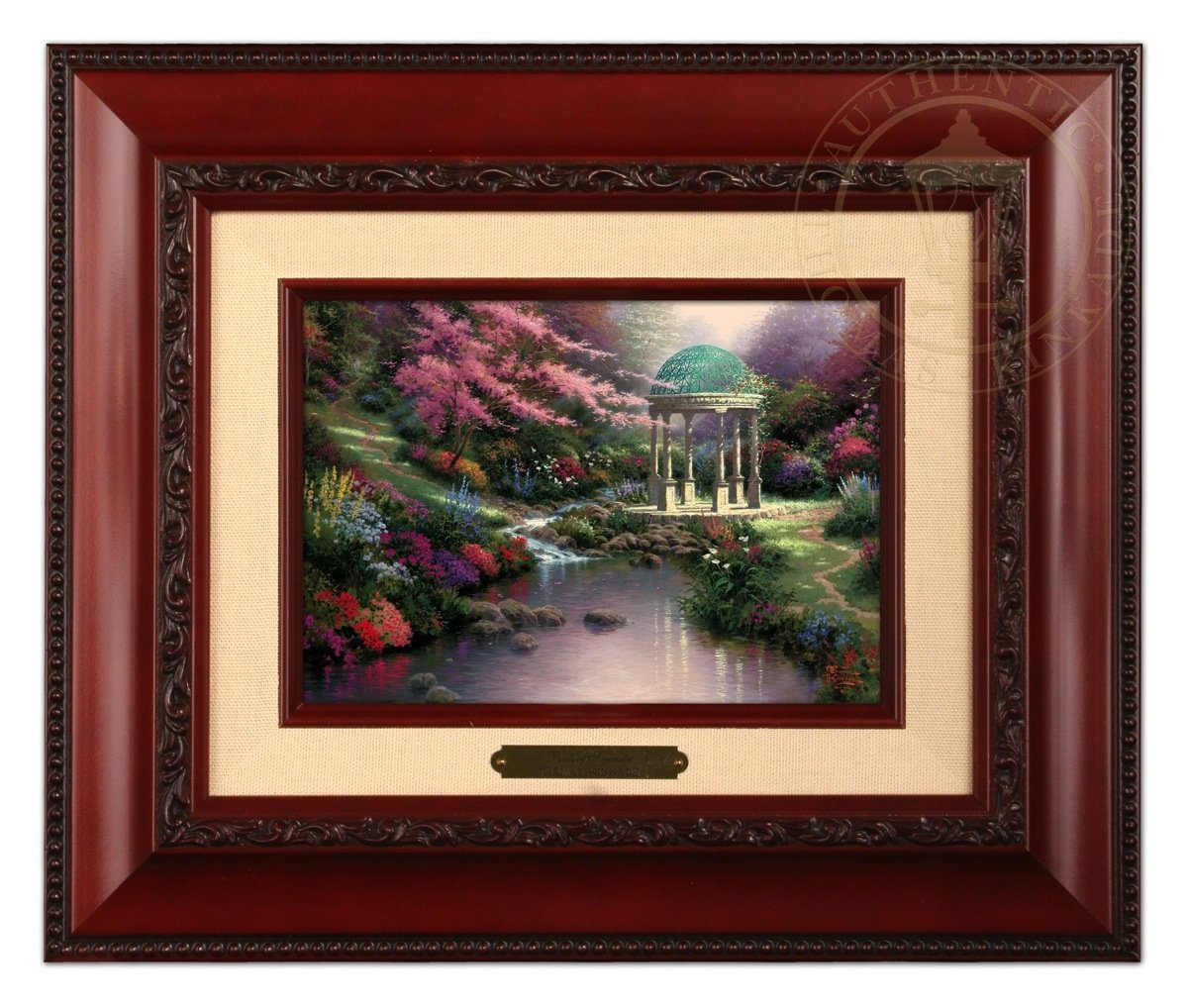 Thomas Kinkade Pools of Serenity Brushwork (Brandy Frame)