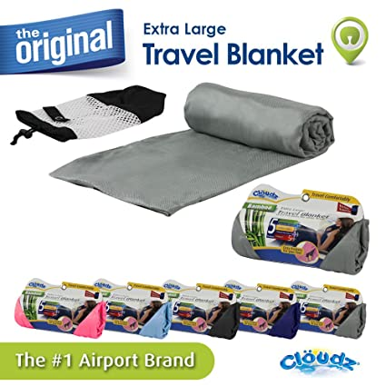 Cloudz Bamboo Travel Blanket with Bag - Charcoal